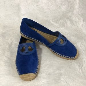 Tory Burch Sydney Espadrilles Jelly Blue Size 8